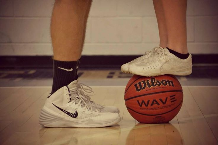 Instead of cheer shoes do basketball for basketball couple!