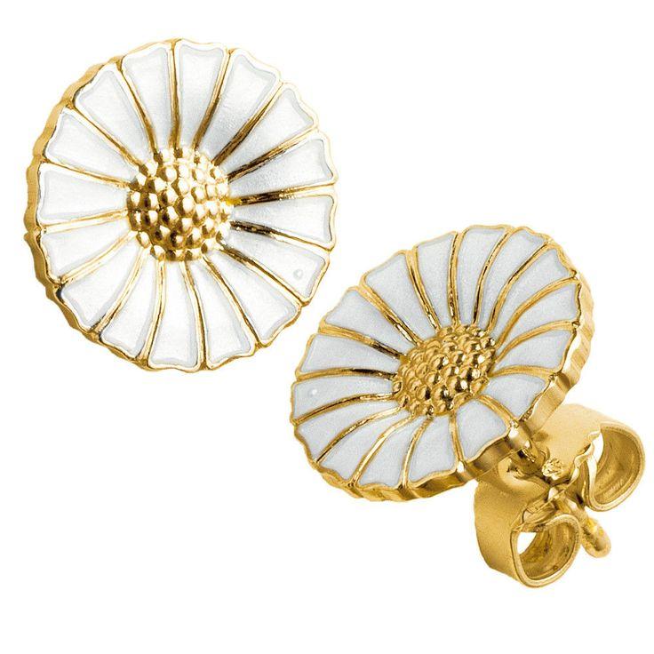Georg Jensen Gilded Silver Earrings DAISY - 11 mm in Jewelry & Watches, Fine Jewelry, Fine Earrings | eBay
