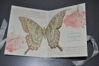 Stamp with Melva - Inside of my cased card