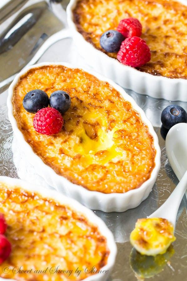 This creamy rich classic creme brûlée is easy to make, yet exquisite dessert to serve at a party. Bonus, you can make it ahead and you don't need a torch!