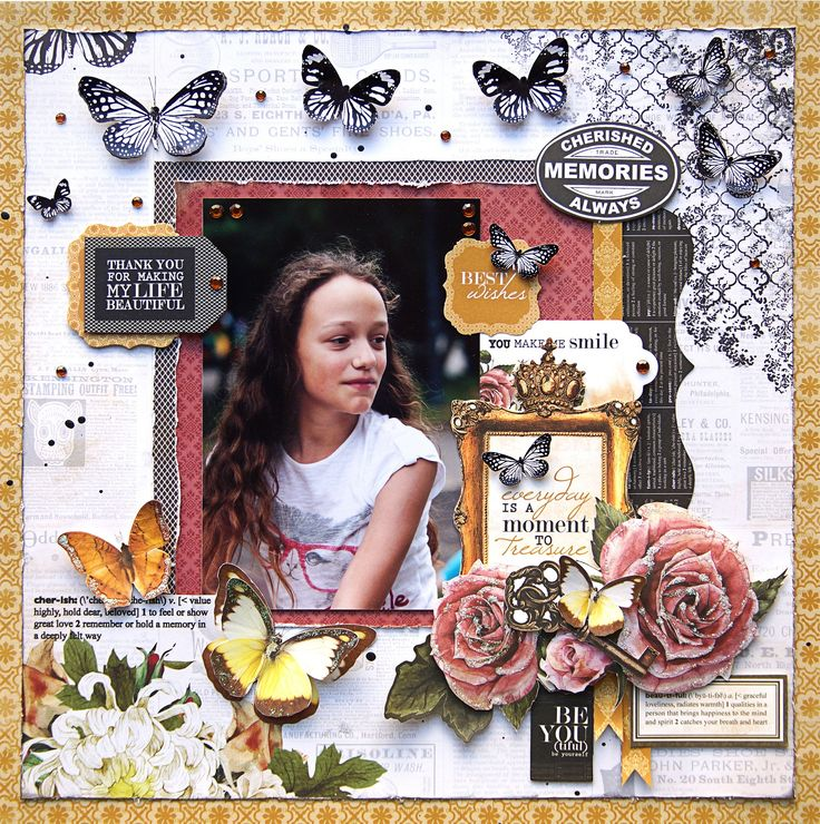 Cherished Memories. Kaisercraft - Treasured Moments Collection
