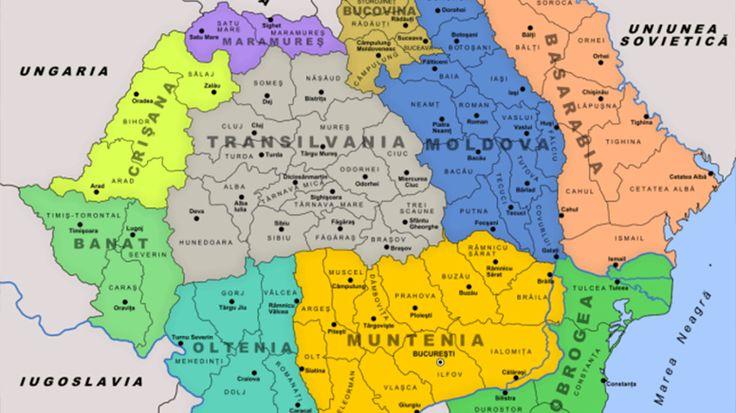 Harta României pe regiuni