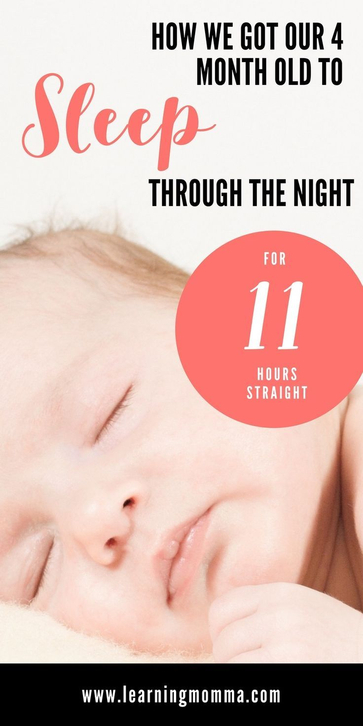 how to make a newborn baby sleep through the night
