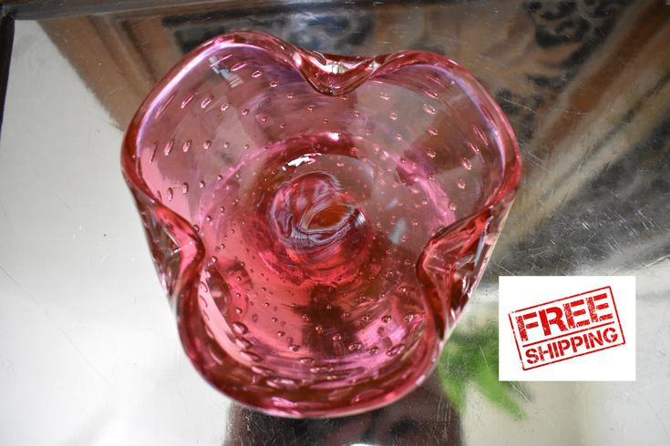 Excited to share the latest addition to my #etsy shop: Vintage 1950s Pink Candy Dish Bowl, Genuine Venetian Glass, Made in Murano Italy, Mid Century Bowl, Art Glass Italy, Bubble Glass Bowl, Bowl https://www.etsy.com/listing/595544391/vintage-1950s-pink-candy-dish-bowl?ref=shop_home_active_1 #venetianglass #vintageashtray #vintagecandydish #candydish #italianglass #italy #glassart #1950s #midcentury #bowl #facebook #instagram #twitter #pintrest #etsyshop #etsyfinds @sonomarepurpose…