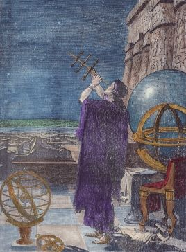 An ancient astronomer from a 19th century illustration.