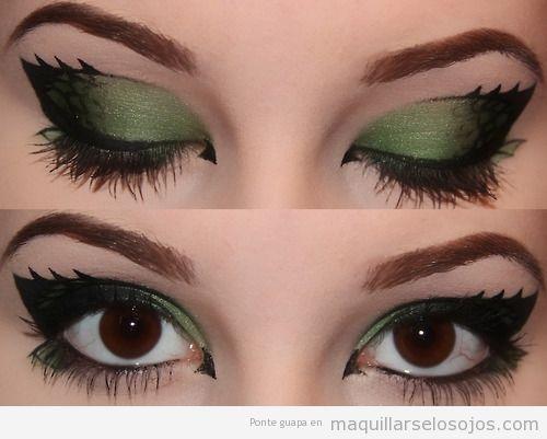 Maquillaje ojos en tonos verdes