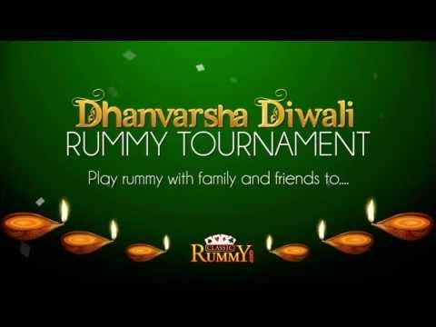"""Diwali is here with lots of celebrations, fireworks, gifts and RUMMY... """"Dhanvarsha Diwali Rummy Tournament"""" Play rummy with family and friends to Win a huge prize of up to Rs. 8 lakhs..... https://www.classicrummy.com/diwali-rummy-tournaments?link_name=CR-12"""