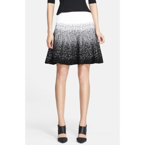 $365.00 A.L.C. Chenille Flared Skirt Snow/ Black X-Small