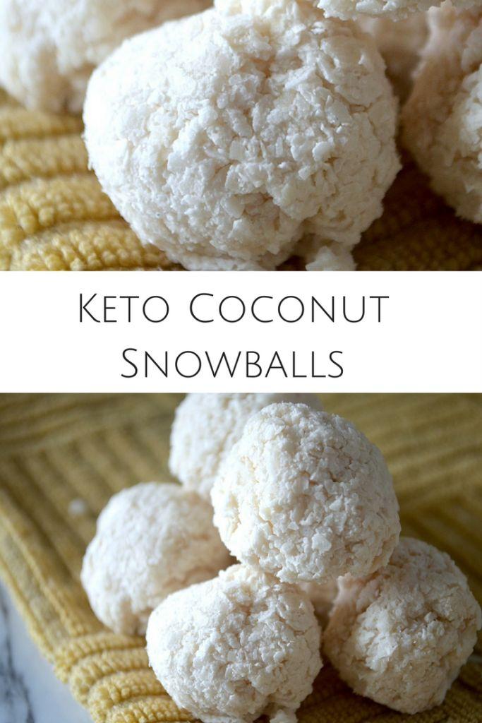 Keto Coconut Snowballs- paleo, vegan and no bake! coconut flakes, coconut milk! Sugar-free!