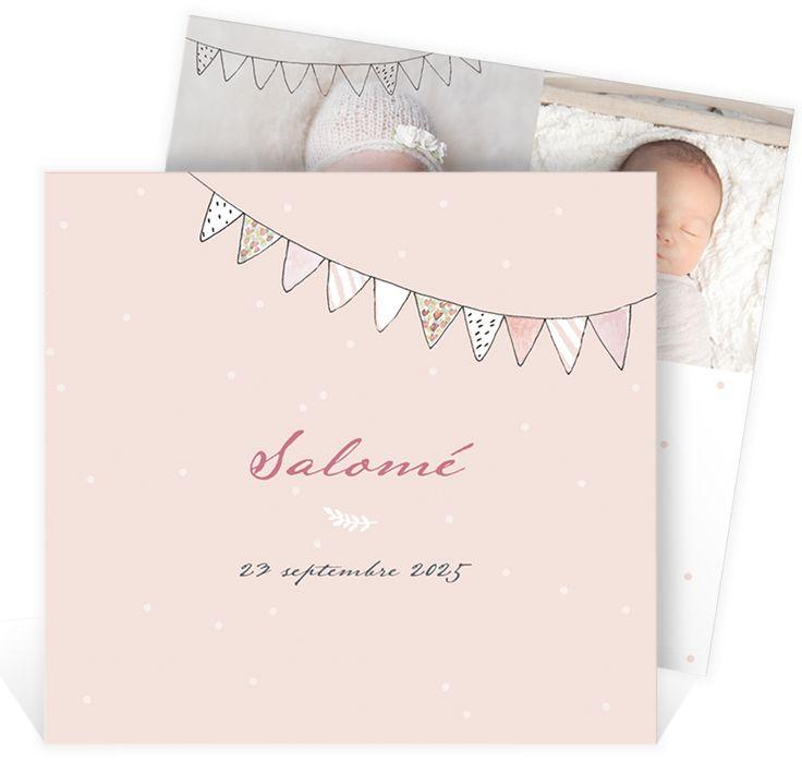 Faire part naissance illustration synonyme de tendresse et de délicatesse pour partager votre bonheur depuis la naissance de votre fille, ref N311212