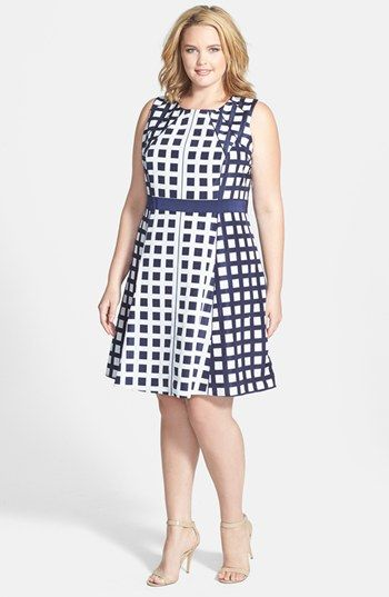 Jessica Simpson Sleeveless Fit & Flare Dress (Plus Size) | Nordstrom #plus #plussize #fashion