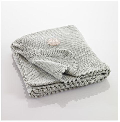 Pebble Hathay Bunano - Blanket - Teal With Spots.