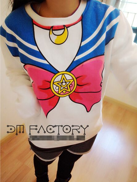Sailor Moon Japanese Harajuku Hot Sell Anime Sailor Sweater Cosplay Sweater Free Shipping-in Costumes from Apparel & Accessories on Aliexpress.com | Alibaba Group