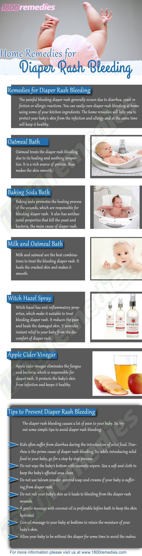 Bleeding diaper rash remedies