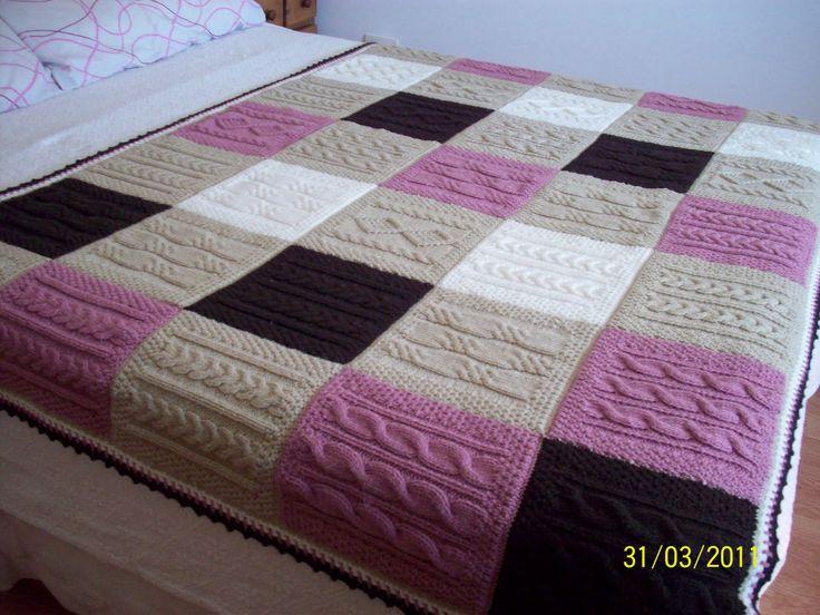 M s de 25 ideas incre bles sobre mantas tejidas en - Mantas de punto hechas a mano ...