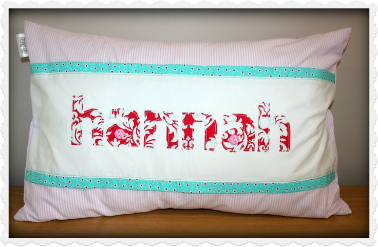 Personalized Name Scatter - for baby Hannah - ideal to brighten any child's room! Great gift idea. Order from Tula-tu Baby Linen - www.tulatu.co.za