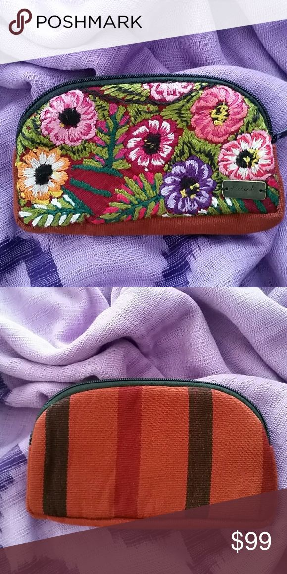 """Sunglass Case Lovely multi-purpose zippered pouch is perfect for sunglasses/glasses or small fragile trinkets. Padded throughout,  it offers a soft protective covering. Perfect for travel or safety in your handbag!  Each bag is handmade with care, dedicated skill and is one of a kind! Material: Recycled Textiles.  7.5"""" × 4"""" Part of the Ketzali × Canil Artisan Group Collaboration. Handmade in Guatemala. Ketzali Bags Cosmetic Bags & Cases"""
