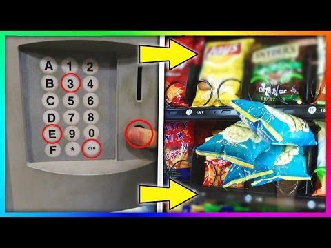 Old vending machine hack code