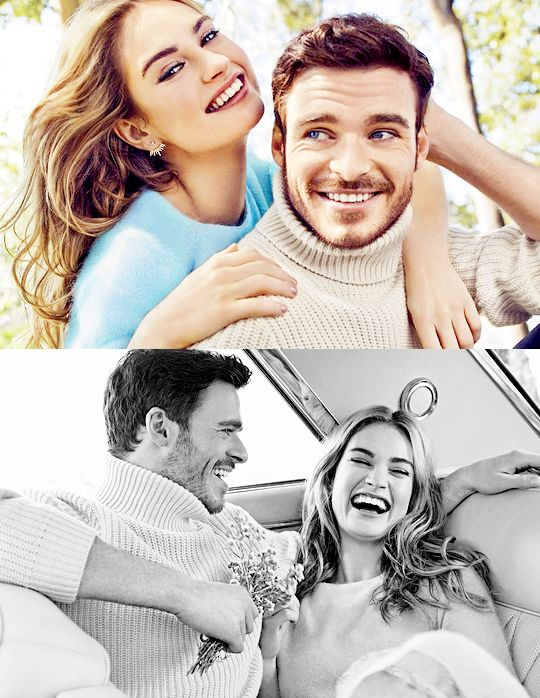Lily James and Richard Madden #cinderella LOOOOVVVEEDD the movie and ugh...he's so gorgeous....and bonus: he's SCOTTISH