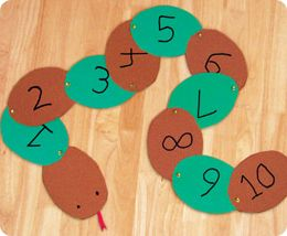 Counting Snakes from Lakeshore Learning: A slinky snake that children make…with numbers on its back to reinforce early math skills!