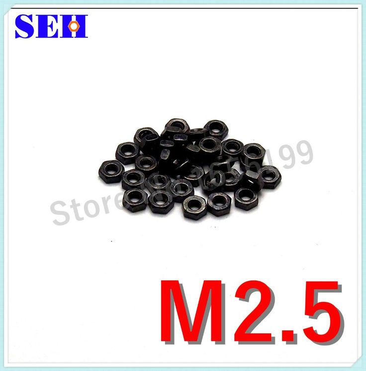 300pcs M2.5 Nut Carbon Steel Grade 8.8 Black High Strength Hex Nut Stainless Pop Thread Nut #shoes, #jewelry, #women, #men, #hats, #watches