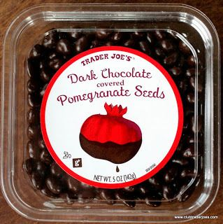 Trader Joe's Dark Chocolate covered Pomegranate Seeds - Club Trader Joe's Careful, they are way too good.