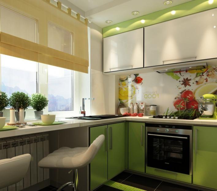 Фото дизайна маленькой кухни 6 кв.м – примеры интерьера и планировки малогабаритных помещений