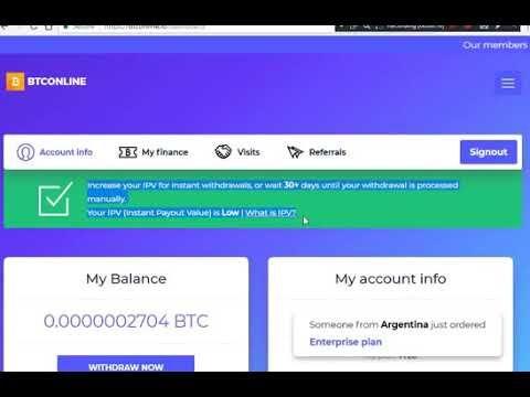 NEW BITCOIN CLOUD MINING 2019 – BTConline io Free Bitcoin Cloud