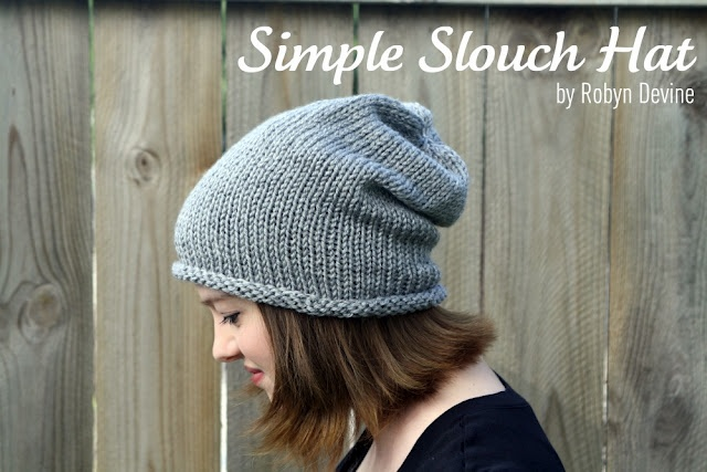 Simple Slouch hat by Robine Devine.