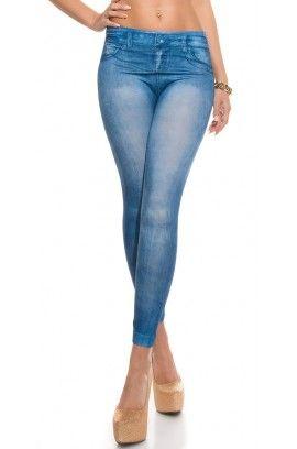 Κολάν - Sexy Leggings in Jeans print HJ1030
