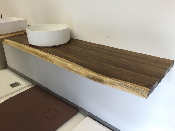 echtholz waschtischplatte eiche ger uchert direkt auf ma bei echtholz. Black Bedroom Furniture Sets. Home Design Ideas