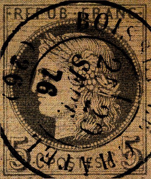 Tea Towels Pillow Talk: Paris France French Stamp Post Mark Postmark Vintage