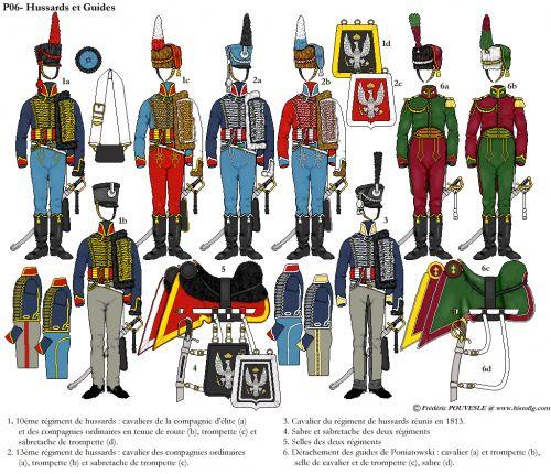 10e et 13e régiments de la cavalerie polonaise. Levé en 1809 comme 8e et 9e régiments de cavalerie de l'armée franco-galicienne, il prennent...