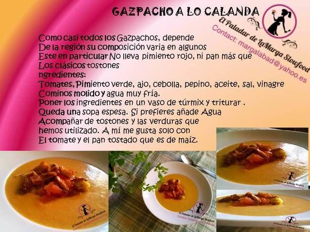 Gazpacho a lo Calanda