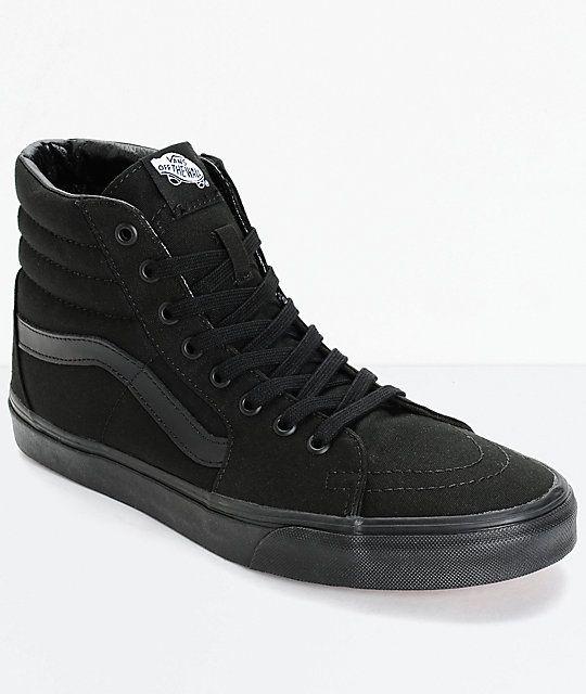 34310af2899 Vans Sk8-Hi Mono Black Skate Shoes in 2019 | Cutesy happy | Vans ...