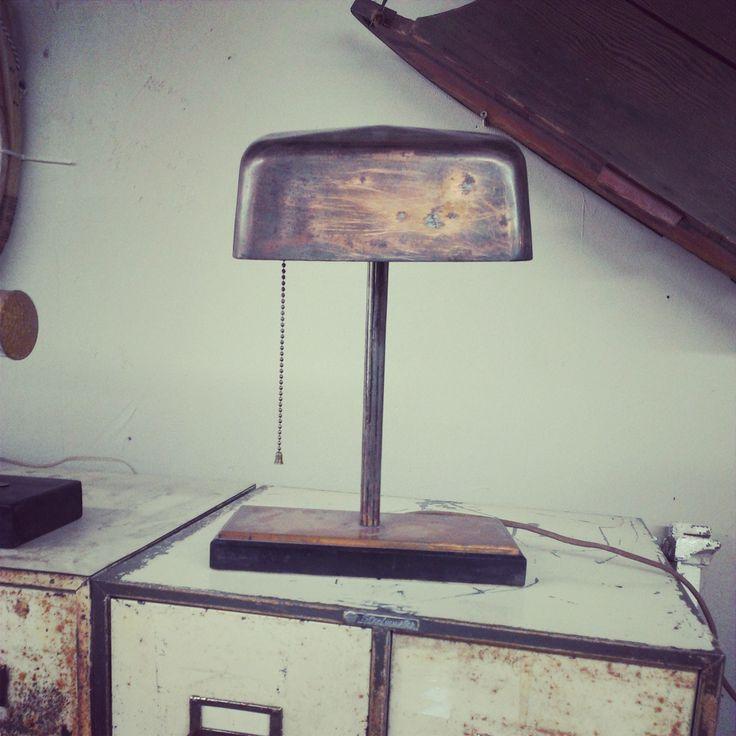 Desk Lamp - with Copper Finish ~ #desklamp #lighting #copper #office #home #decor #antique *JoJo's Place www.jojosplace.com