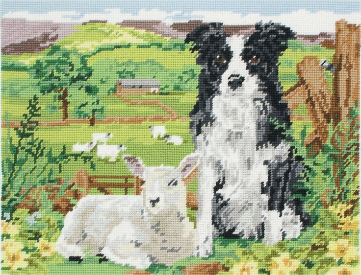 Anchor - Tapestry Kit - Border Collie and Lamb