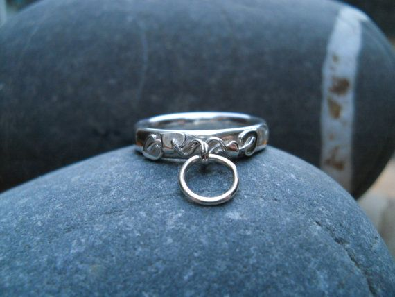 """A Story of """"O"""" Ring! sterling silver embellished story of 'O' ring by Inofa on Etsy, £45.00"""