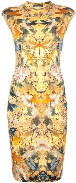 ALEXANDER MCQUEEN Multicoloured Print Dress - Lyst