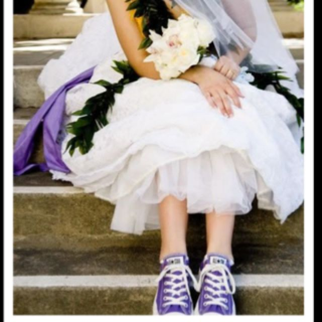 Purple converse wedding. Converse weddings are great when done right.