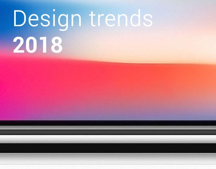"""다음 @Behance 프로젝트 확인: """"Design Trends 2018"""" https://www.behance.net/gallery/59661525/Design-Trends-2018"""