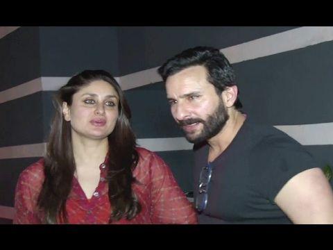 Kareena Kapoor with Saif Alia Khan at Sanjay Kapoor's party 2017.