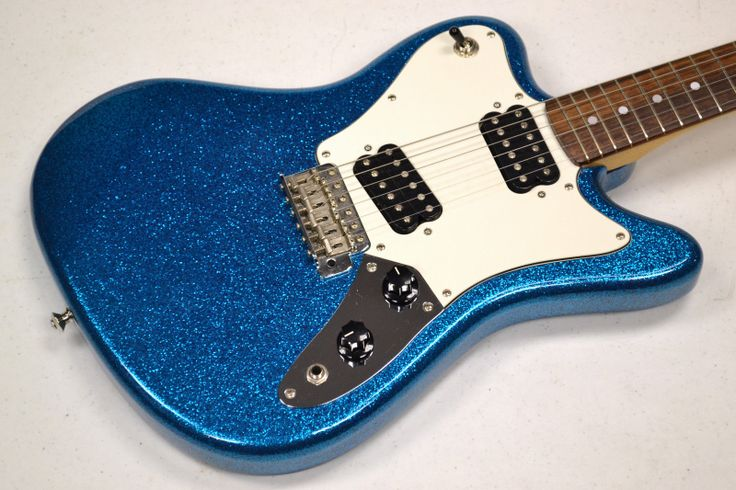 Fender Squier Japan Super-Sonic Electric Guitar Blue Sparkle MIJ AWESOME!
