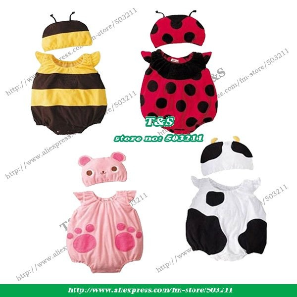 Google Image Result for http://i00.i.aliimg.com/wsphoto/v0/447296484_1/Wholesale-Baby-Clothes-8-pcs-cotton-Baby-romper-girls-clothes-for-summer-wasp-ladybug-cow-cubs.jpg: Google Image, Reborn Kits, Babies Babies, Baby Stuff