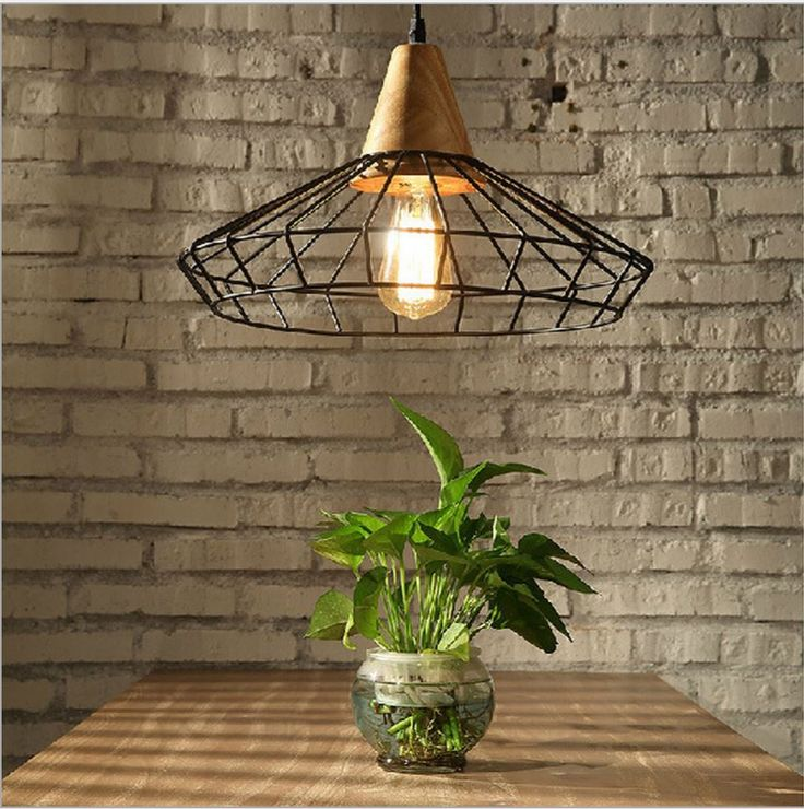 Cheap Pendant Lights, Buy Directly from China Suppliers:Description: Feature:Wood and steel mix together and simple design highlights personality. It suits for Loft B