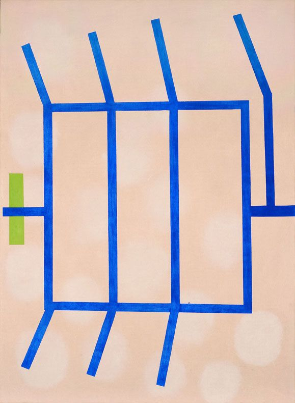 "ENRICO DELLA TORRE, ""Volatile"" 2006, olio su tela, cm 94x69"