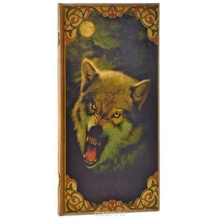"""Игровой набор 3в1 """"Волк"""": нарды, шахматы, шашки. 085msh  — 1881 руб.  —  Нарды """"Волк"""" упакованы в деревянный лакированный кейс, оформленный изображением волка. Кейс закрывается на металлический замок. Внутренняя часть кейса представляет собой игровое поле. В наборе - 2 игральных кубика, деревянные шашки и шахматные фигуры. На внешней стороне кейса изображено игровое поле для игры в шашки или шахматы. Цель игры состоит в том, чтобы сначала привести шашки в свой дом (мешая в тоже время сделать…"""