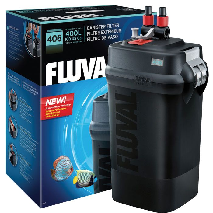Fluval 406 canister filter up to 100 gal the o 39 jays for Filter for 100 gallon pond