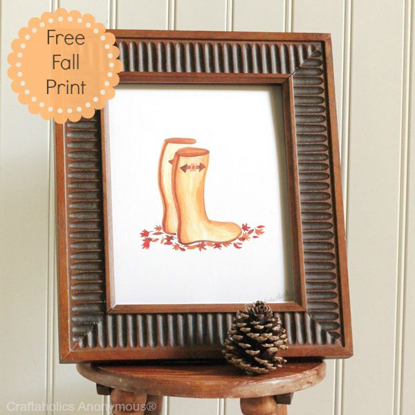 Wellies Print. Seriously the cutest #fall #printable EVER!: