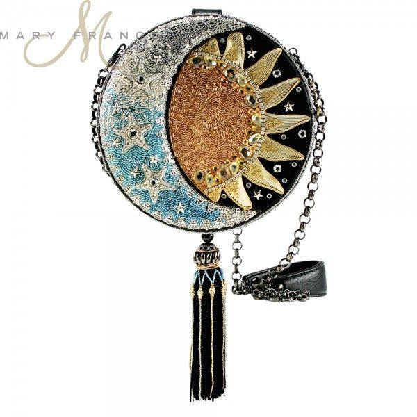 'Day To Night' novelty Handbag #MaryFrances #mfaccessories ♥•♥•♥Stunning♥•♥•♥